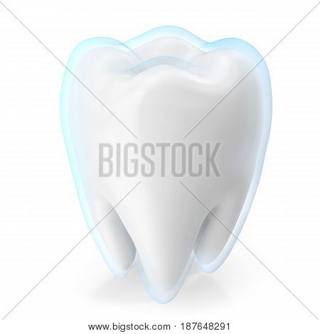 Teeth protection medicine and health concept design element, 3d rendering