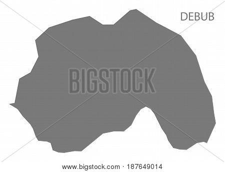 Debub Eritrea map grey illustration silhouette shape