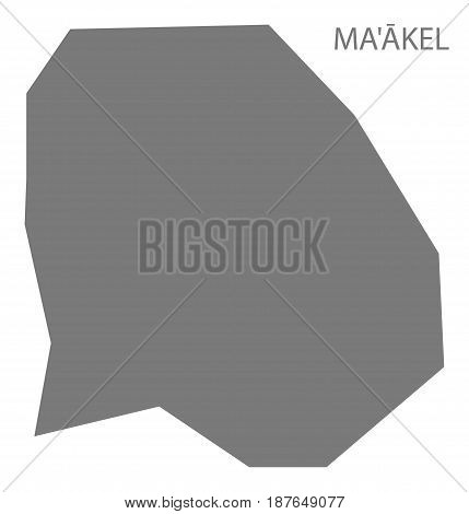 Maakel Eritrea map grey illustration silhouette shape