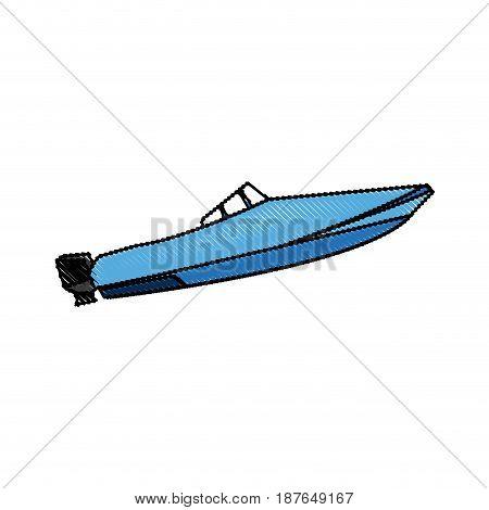 boat transport adventure expensive sport vector illustration
