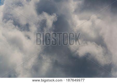dramatic natural dark cloudscape in summer sky