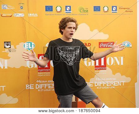 Giffoni Valle Piana Sa Italy - July 24 2014 : Brando Pacitto at Giffoni Film Festival 2014 - on July 24 2014 in Giffoni Valle Piana Italy