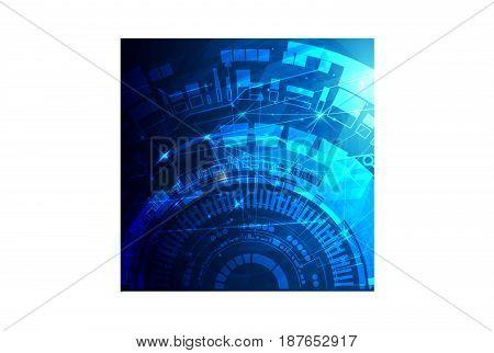 Futuristic shiny HUD scientific background. Vector eps10. Scientific concept for your design. Vector illustration.