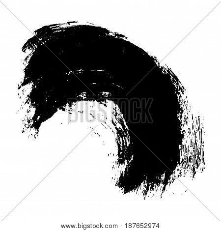 Black vector brush stroke. Grunge paint stroke. Element for different design