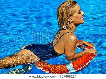 Sexy Hot Beautiful Girl Blonde Model In Swimwear