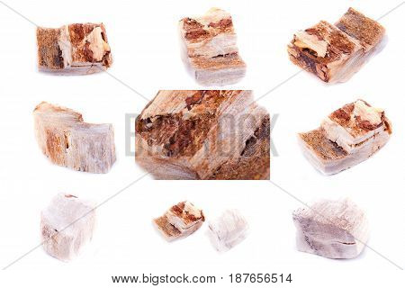 Collection Of Stone Mineral Petrified Wood
