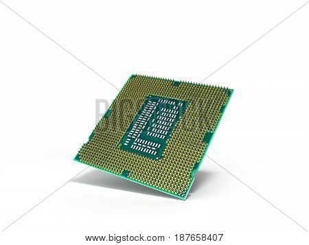 Central Computer Processors Cpu High Resolution 3D Render On White
