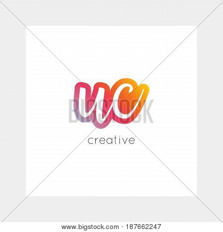 Uc Logo, Vector. Useful As Branding, App Icon, Alphabet Combination, Clip-art.