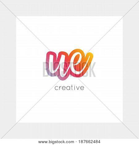 Ue Logo, Vector. Useful As Branding, App Icon, Alphabet Combination, Clip-art.