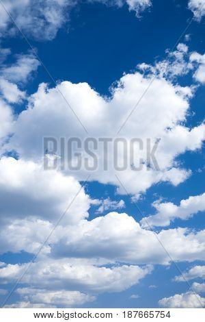 Blue sky and clouds, background or backdrop
