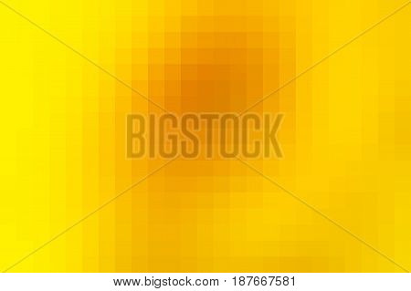 Bright Golden Yellow Mosaic Square Tiles Background