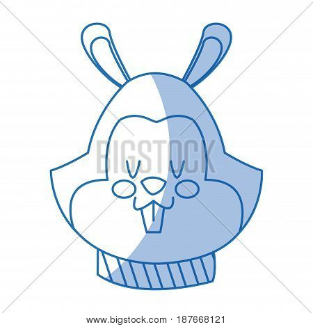 head squirrel christmas with scarf decoration vector illustration