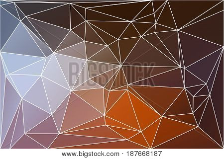 Brown Orange White Geometric Background With Mesh.
