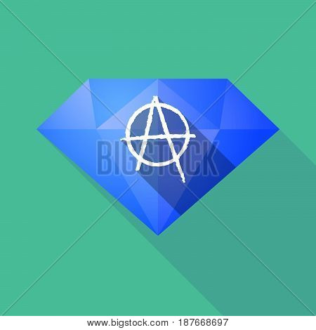 Long Shadow Diamond With An Anarchy Sign