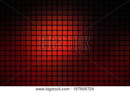 Red Brown Black Abstract Rounded Mosaic Background Over Black