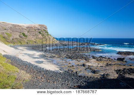 Walking track to Cairn Beach on the Mornington Peninsula, Victoria, Australia