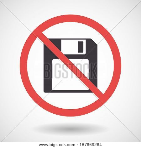 Isolated Forbidden Signal With A Floppy Disk