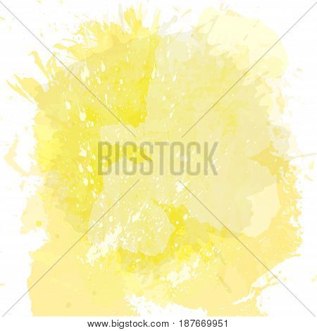 Abstract watercolor spot background. Splash texture background isolated on white.