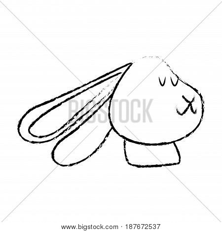 cute rabbit with scarf winter christmas image vector illustration