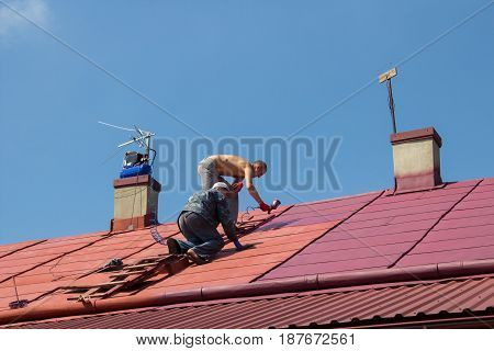 modern way of painting the roof air compressor