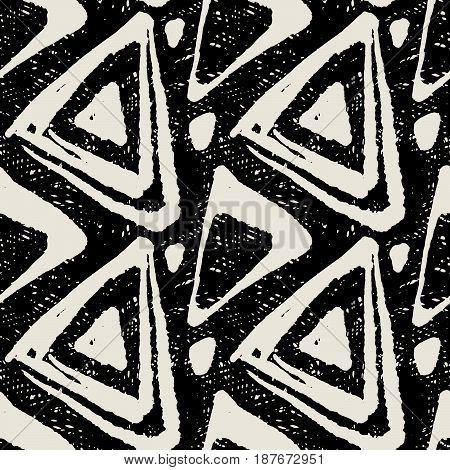 Seamless Textile Doodle Pattern