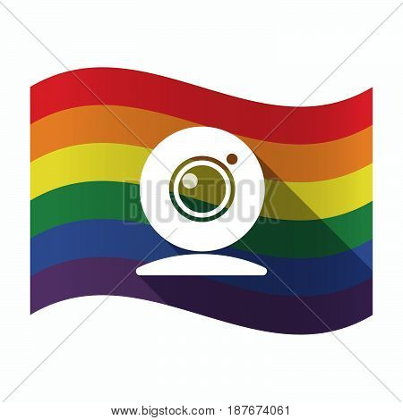 Isolated Gay Pride Flag With A Web Cam