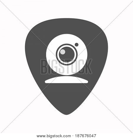 Isolated Guitar Plectrum With A Web Cam