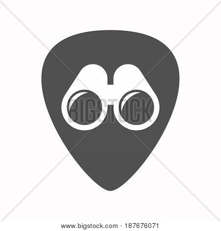 Isolated Guitar Plectrum With A Binoculars