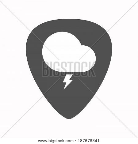 Isolated Guitar Plectrum With A Stormy Cloud