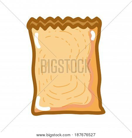 paper bag to save of product that brought, vector illustration