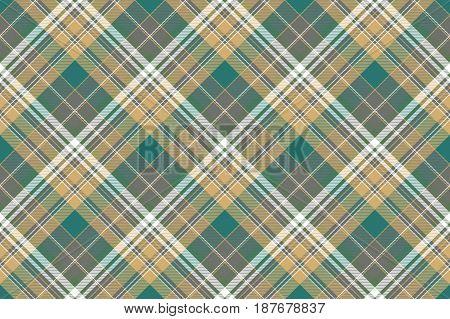 Tartan plaid color textile seamless pattern. Flat design. Vector illustration.