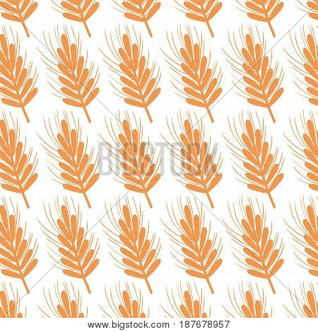 healthy wheat organ plant nutricious background, vector illustration