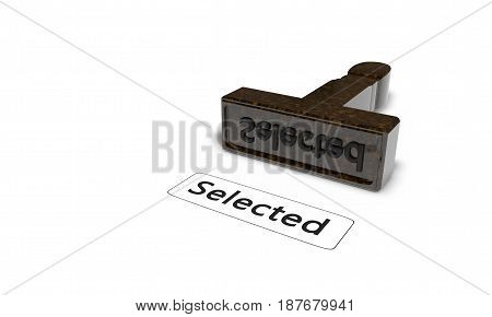 Selected Signet Of Background, 3D Render