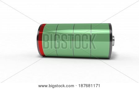 Rechargeable Battery Very Low, 3D Render