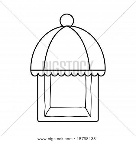 line nice bakery store over white background, vector illustration