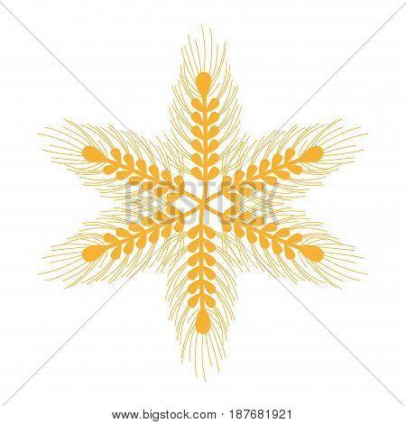 healthy wheat organ plants nutricious, vector illustration
