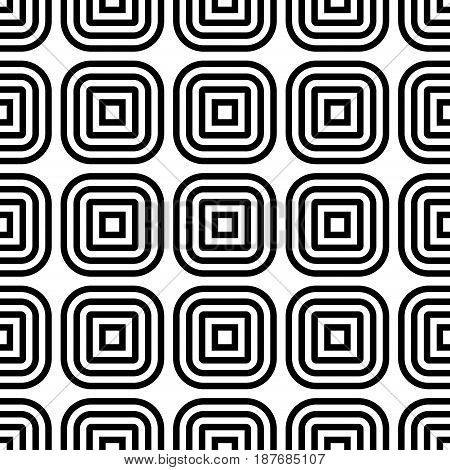 Abstract geometric background. Seamless pattern with square elements. Vector illustration