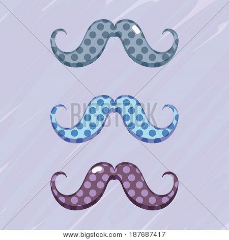 set diferent mustache decoration design, vector illustration