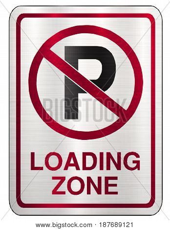 no parking loading zone sign red   restriction