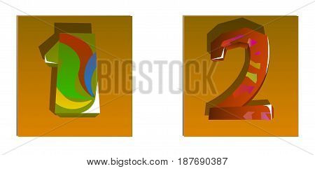 The image consists of two digital values. Here figures