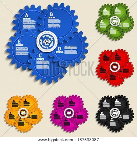 Abstract design template with gear wheels - info graphics element.