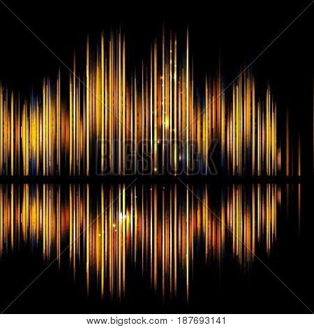 Abstract technology background-shiny sound waveform. Vector illustration.