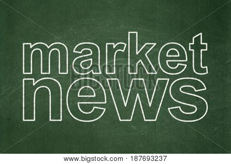 News concept: text Market News on Green chalkboard background