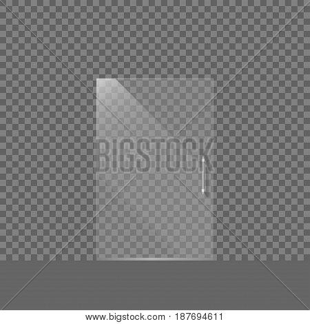 Modern Transparent glass door isolated. Vector illustration