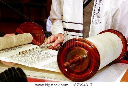 Jewish Man Dressed In Ritual Clothing