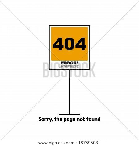 Vector illustration of 404 error page not found concept.