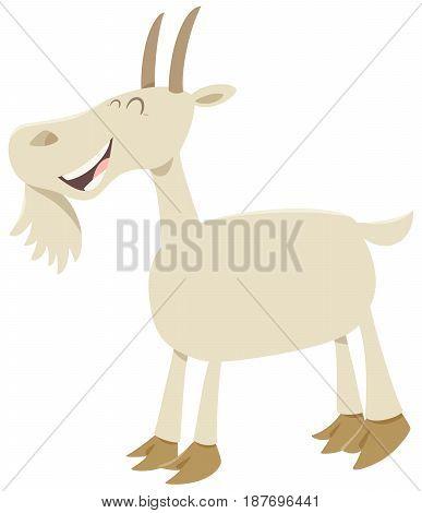 Happy Goat Animal Character