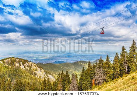 Red Cable Car