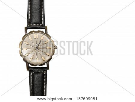 watch wrist closeup isolated on white background.