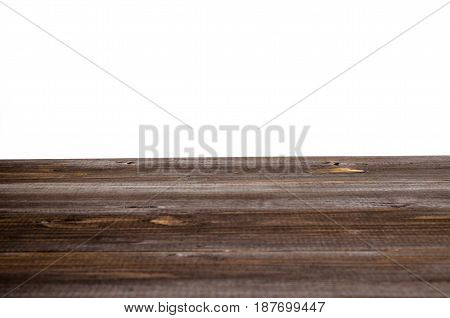 vintage wooden terrace or wooden floor isolated on white background